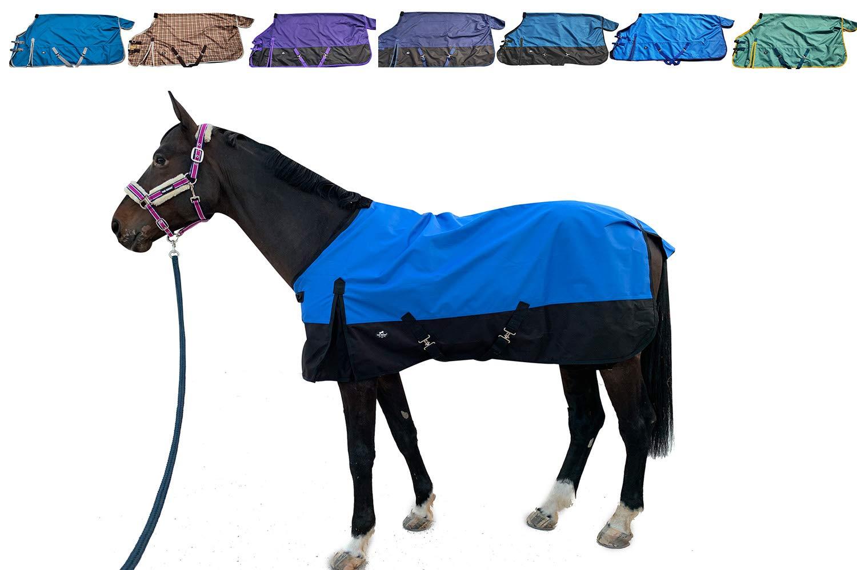 Amazon Com Tgw Riding 1200denier Waterproof And Breathable Horse Sheet Horse Blanket Standard Neck Turnout Sheet 68 Blue Pet Supplies