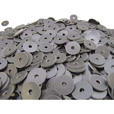 100 X Washer Rubber 20 x 6 x 4mm Silver