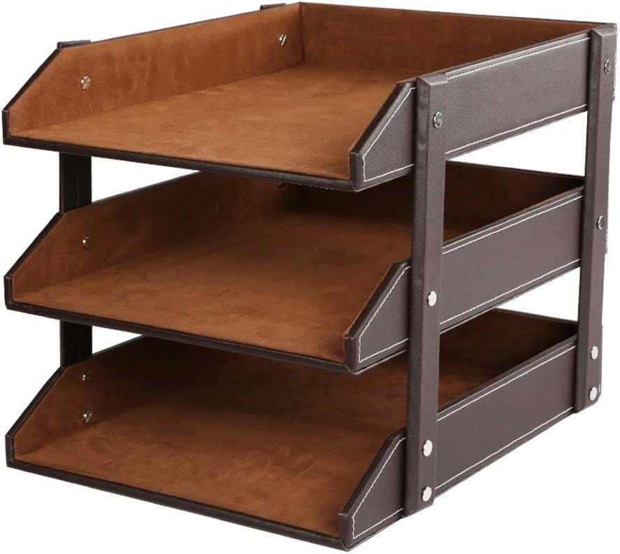 JLHBM File Long Beach Mall Storage Organizer Box Sorter Portable 3-Tier Desktop Large discharge sale