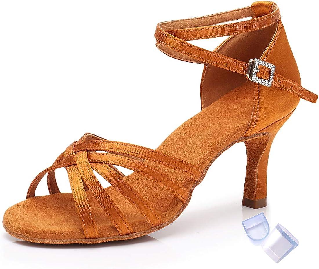 Ranking integrated 1st place Women's Satin Latin Dance Shoes ChaCha Salsa Bachata Over item handling ☆ Rumba Tango