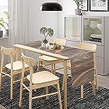 Camino de mesa de mármol gris rosa, decoración de mesa de comedor para interiores y exteriores, decoración de banquetes de boda, 184 x 34 cm