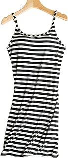 Women's Sleeveless Buttons Decor Long Tank Built-in Bra Casual Sleepwear Dress