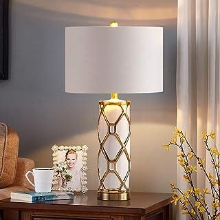 Dightyoho Lampe de Table Lampe de Table en céramique Nordique de Luxe Chambre Lampe de Chevet Armoire Chaude Simple Salon ...
