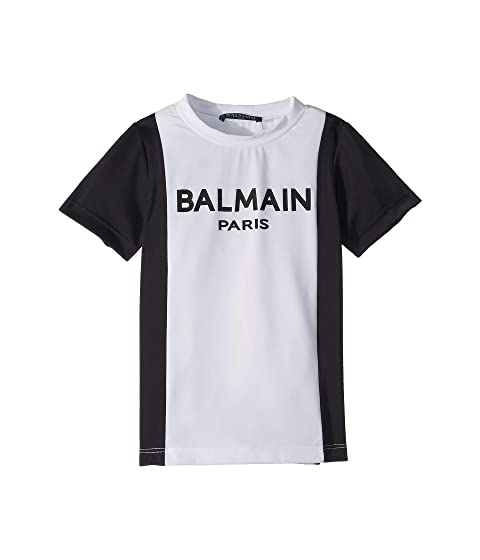 Balmain Kids Short Sleeve Rashguard (Little Kids/Big Kids)