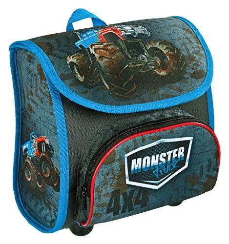 Scooli MTQJ8240 - Vorschulranzen Cutie mit Klettverschluss, ergonomisch, leicht, Monster Truck, ca. 4,5 Liter