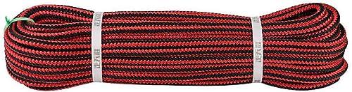 YYHSND Corde d'escalade Corde Statique Travail aérien Corde Rappel Corde de diamètre 12mm Rouge Noir Corde d'alpinisme (Taille   20m)