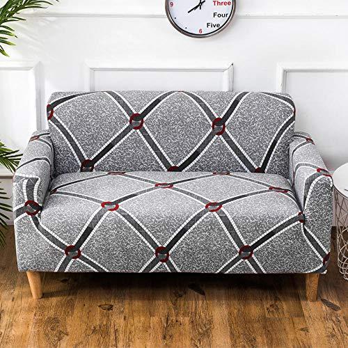 Allenger Funda Elástica de Sofá,Funda de sofá elástica, cojín de sofá de Tela Antideslizante Todo Incluido, Funda de sofá de Esquina Universal para Todas Las Estaciones, Lavable-1_145-185cm