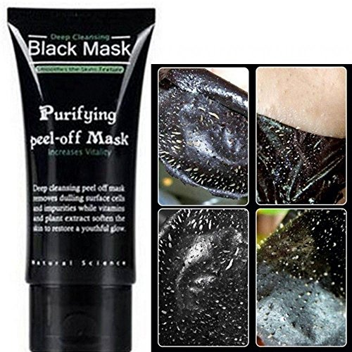 Bamboo Remover Blackhead Facial Máscara Negra lama profunda limpeza purificante Peel Off Facail
