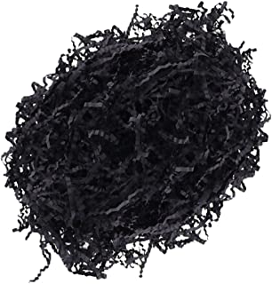 MagiDeal 100 G/Pack Shredded Crinkle Paper for Gift Box Packing Filling Materials - Black