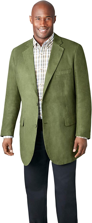 KS Signature by KingSize Men's Big & Tall Microsuede Sport Coat Leather Jacket