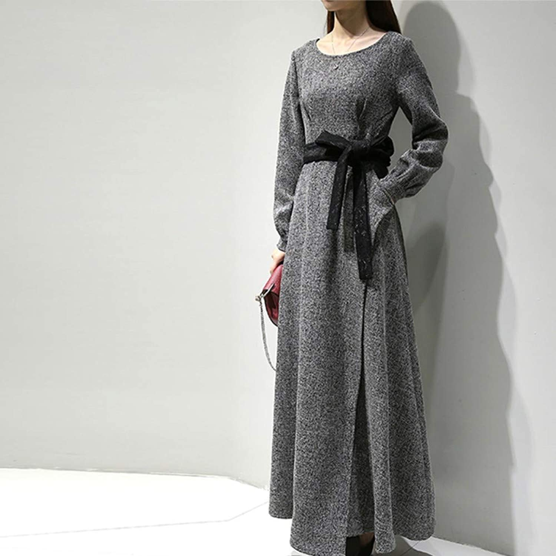 Woman Dress with Slim Slimming Long Dress