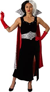 101 Dálmatas - Disfraz de Cruella de Vil Premium para mujer, talla S adulto (