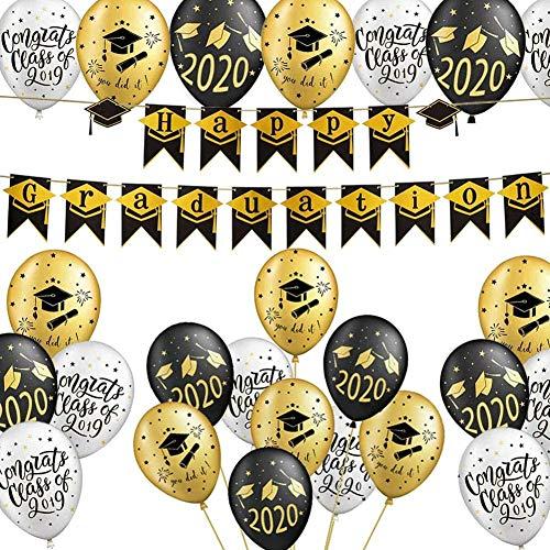 CHEPL Graduación Deco 2021 Globos De Graduación Graduación Banner Felicitaciones Globo Graduación Fiestas Decoraciones de fiesta para la ceremonia de graduación