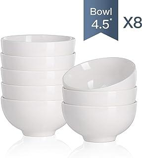 Malacasa, serie Regular, Cuencos de Cereal Porcelana Juego de Cuencos Tazones 8 piezas 4.5