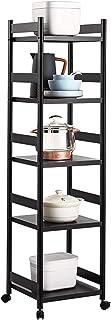 NgMik Porte-étagères de Coin Cuisine à 5 Niveaux, Porte-Casserole Multicouche Stockage Organisateur Étagères métalliques T...