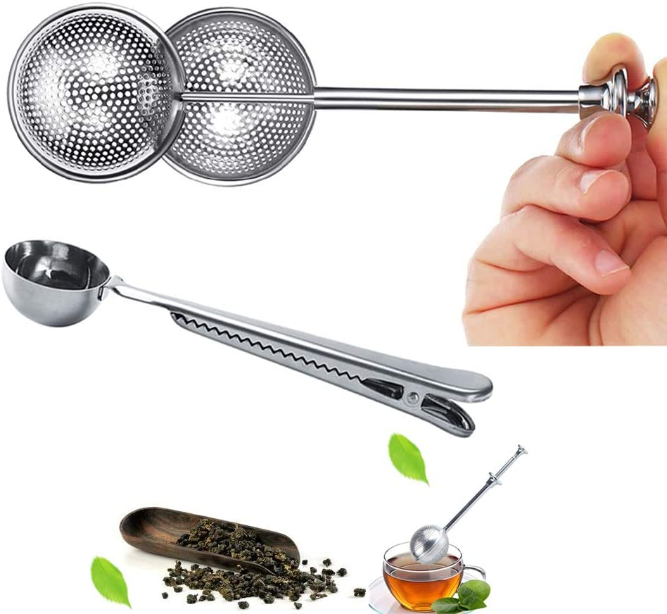 Max 65% OFF DRWhem Long Handle Limited time sale Tea Balls Infuser Set 2Pcs Loose with for