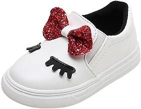 ?? Zapatos Bebe niña,Niños Bebés Infantil Crystal Bowknot LED Botas Luminosas Zapatillas Deportivas Zapatillas Absolute