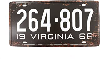 6×12 Inches Vintage Feel Rustic Home,Bathroom and Bar Wall Decor Car Vehicle License..