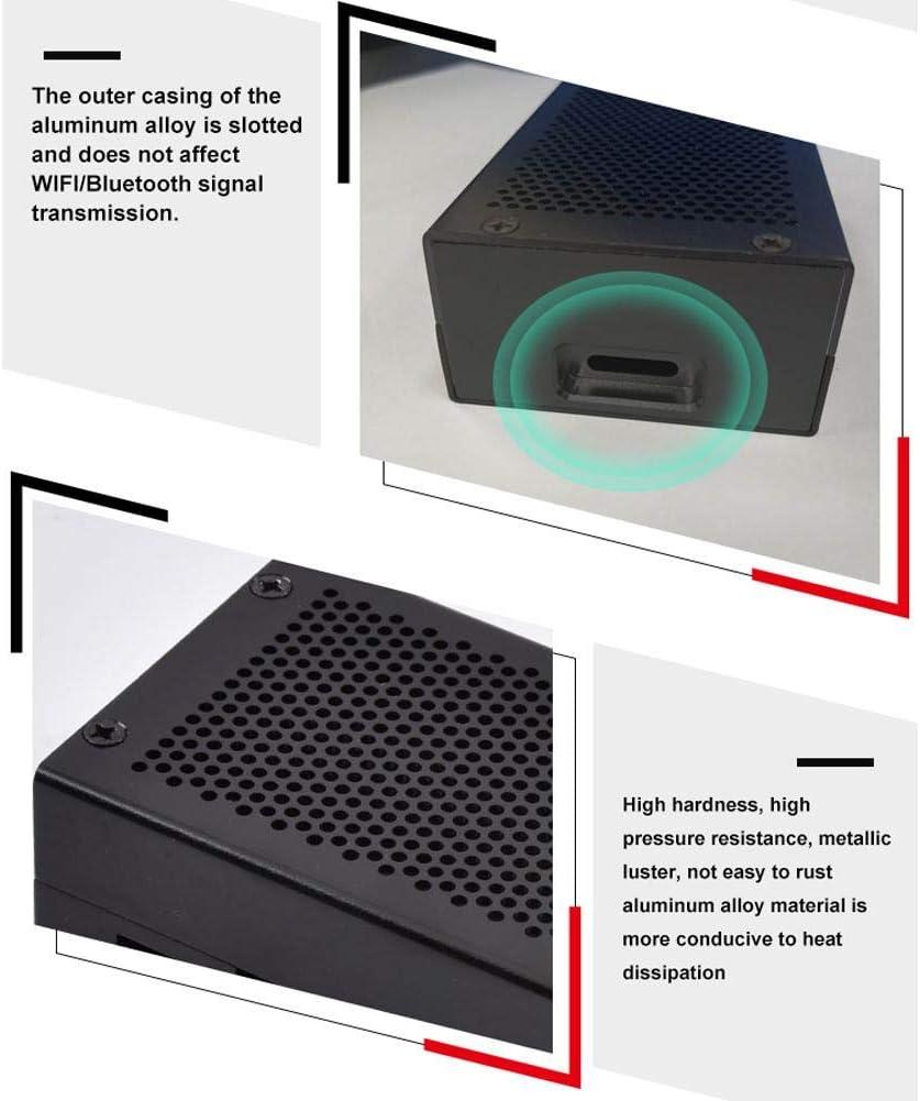 Light-Ren for Raspberry Pi 4 Aluminum Alloy Metal Case Protective Case Enclosure Box with Mini Cooling Fan Heatsink Kit
