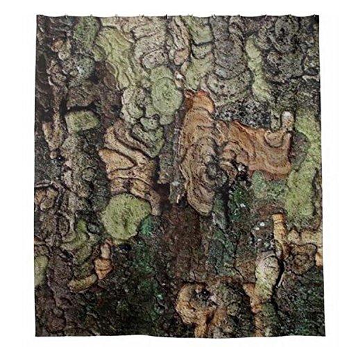LAundNA Bark Baum Rinde Textur Wasserdicht Gewebe Polyester Badezimmer Duschvorhang 72 (h)(w) x 72