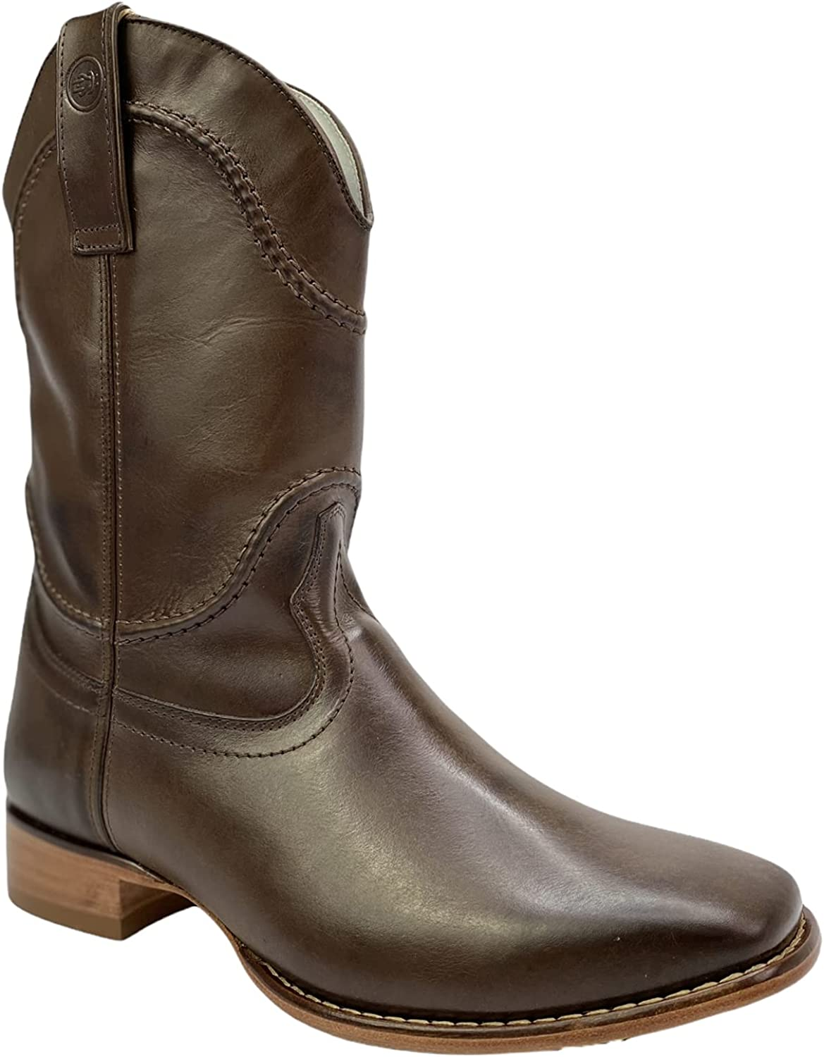 KING USA TEXAS Men's Western Max 60% OFF Leather Cowboy Rodeo T Boots San Francisco Mall Square