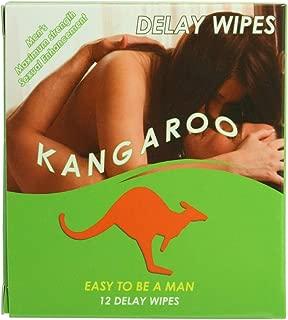 Kangaroo Men's Maximum Strength Sexual Enhancement Individual Delay Wipes 12 Pack
