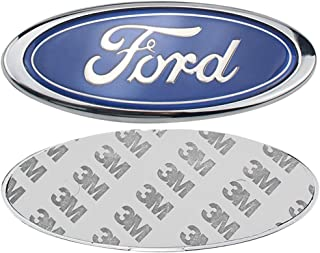 Ruanye For FORD 6 Inch Front Grille Tailgate Emblem, 3D Oval 3M Double Side Adhesive Tape Sticker Badge for Ford Mondeo Fiesta Focus (Blue, 6 inch)