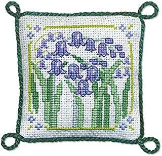 Textile Heritage Pincushion Counted Cross Stitch Kit - Bluebells