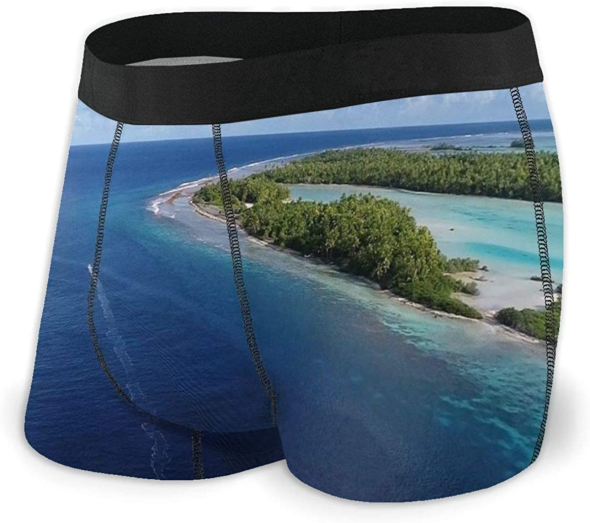 Mens Boxer Briefs Marvellous Small Island Ocean Breathable Underwear