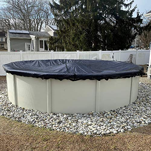 Leaf Net for Aboveground, Fits 18' Round Pool – Durable, Woven Polyethylene Material with Reinforced Edge – Lightweight and Easy to Store – , 18' - Winter Block LN18R