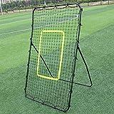 2021 New HomeLiving Professional Galvanized Steel Pipe Rebound Soccer/Baseball Goal Black - Soccer Rebounder or Baseball & Softball Pitch Back - Premium Quality for Playground ACA