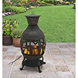 B H & G C0. Better Homes and Gardens Antique Bronze Cast Iron Chiminea, Durable cast Iron Construction!