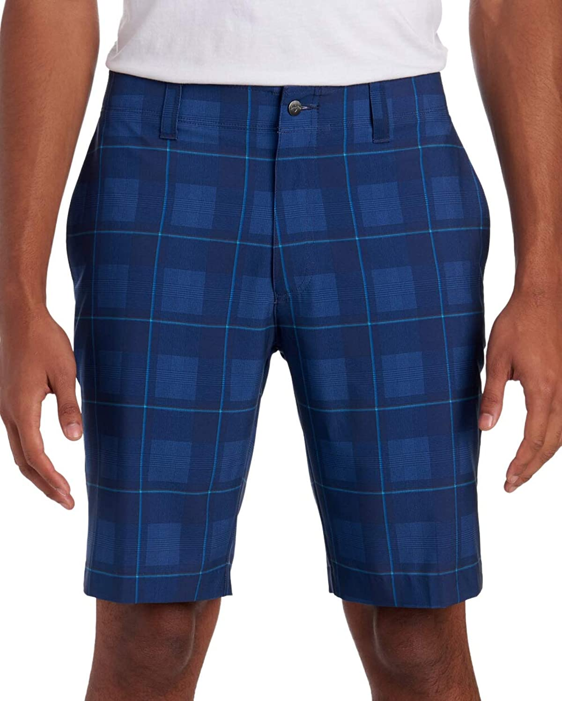 Callaway Lightweight Men's Plaid Shorts, Peacoat