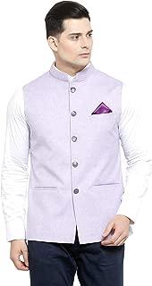 LUXURAZI Pastel Ethnic Bandhgala Jodhpuri Nehru Jacket Vest Waistcoat - 4 Colours