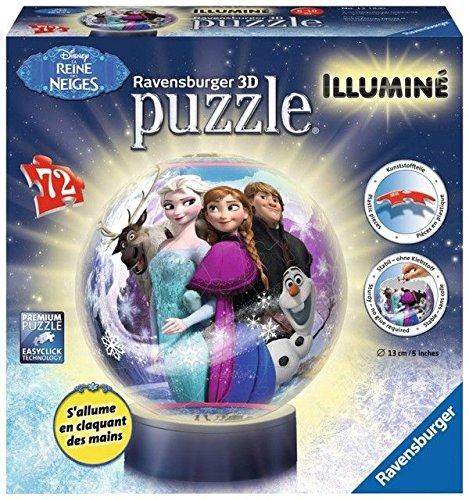 Ravensburger 12183 - Puzzle 3D da 72 pezzi di Frozen, con illuminazione