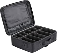 Store2508® Professional Travel Vanity Case with Adjustable Partitions (Black, 40.5 * 28 * 13 cm)