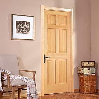 Solid Hemlock 6-Panel Interior Wood Doors, Pocket Sliding Door, Unfinished, (26
