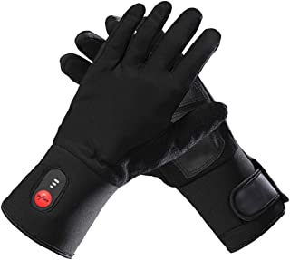 Sun Will Heated Gloves Liners for Men Women,7.4v 2200mah Rechargeable Electric Battery Thin Thermal Heat Mitten for Winter Outdoor Indoor Hand Warmer