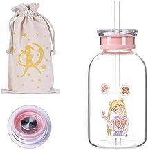 Water Cup 450 ml / 700 ml Creatieve Cartoon Waterfles met Rietje Deksel Kawaii Mooi Meisje Mode Glazen Draagbare Water Cup...