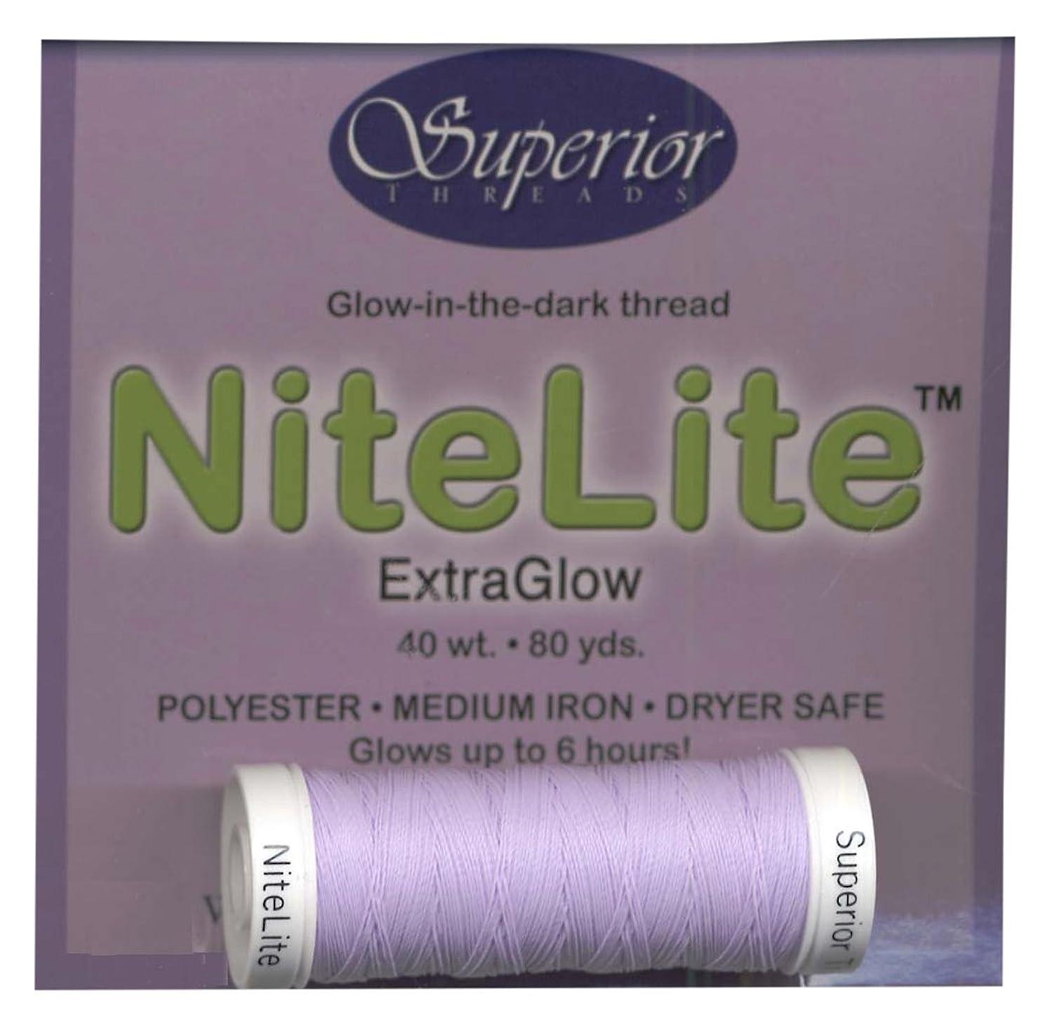 Superior Threads 11101-PRPL Nitelite 40W Polyester Extra Glow in The Dark Thread, 80 yd, Purple