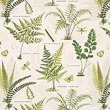 Fabulous Fabrics Halbpanama wollweiß, Pflanze, 140cm