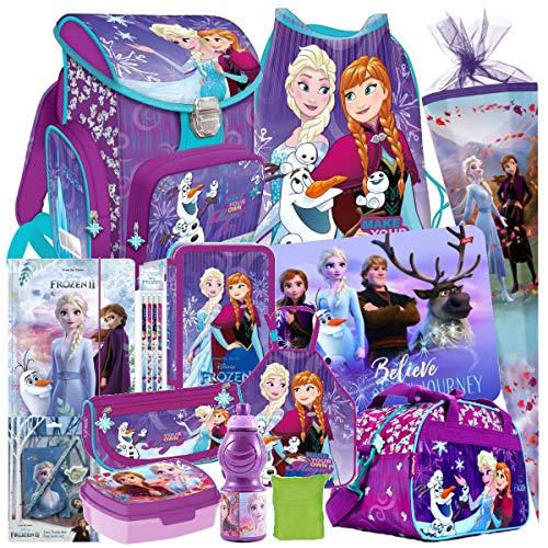 Frozen Eiskönigin ELSA Olaf Anna 21 Teile Schulranzen Tornister RANZEN Schulrucksack Rucksack Tasche Set Schultüte 85 cm Sporttasche