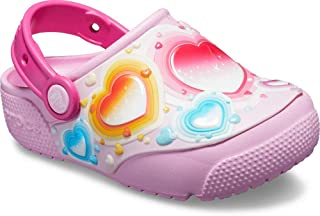 Crocs Kids' Boys and Girls Heart Light Up Clog