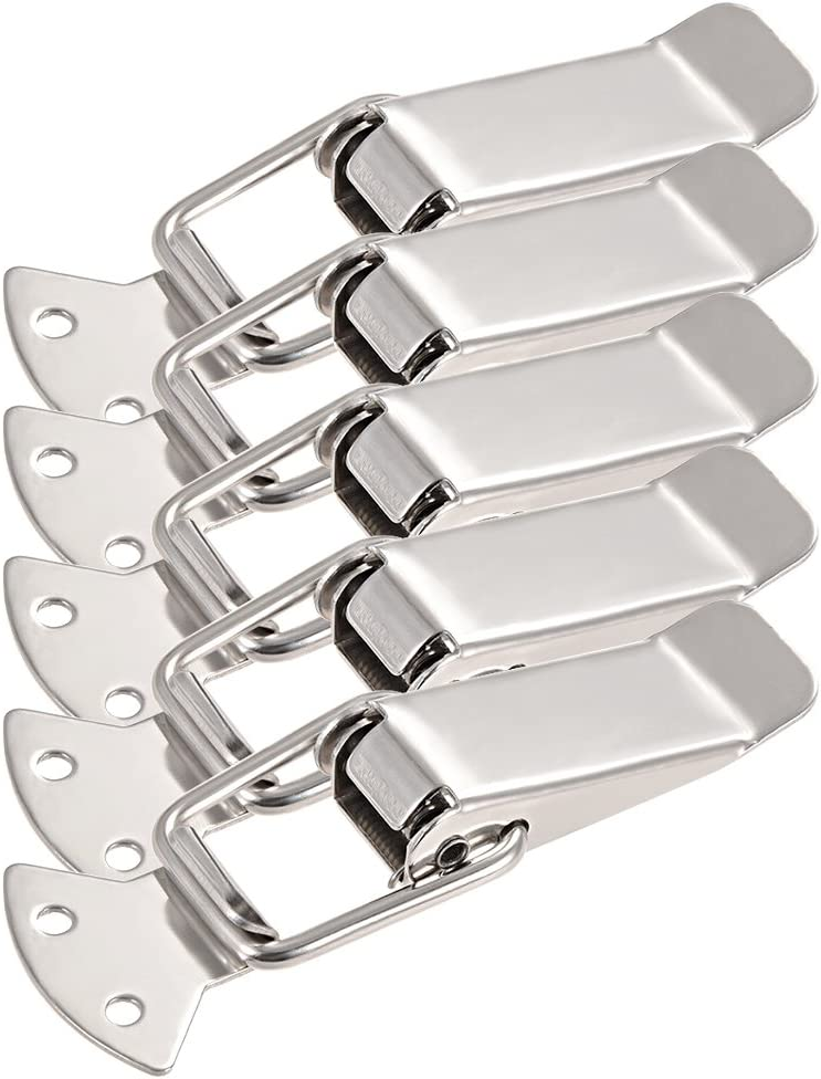 uxcell Spring Loaded Toggle Latches Hasps Iron 110mm Length Limited time sale Bargain sale Cla