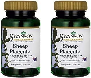 Swanson Sheep Placenta Glandular Substance 400 mg 60 Caps 2 Pack