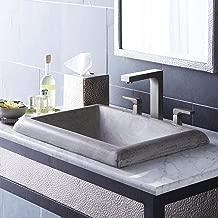 Native Trails NSL2216-A Montecito Native Stone Drop-in Bathroom Sink, Ash