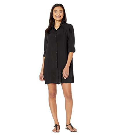 Bleu Rod Beattie Under Cover Rayon Shirt Cover-Up (Black) Women