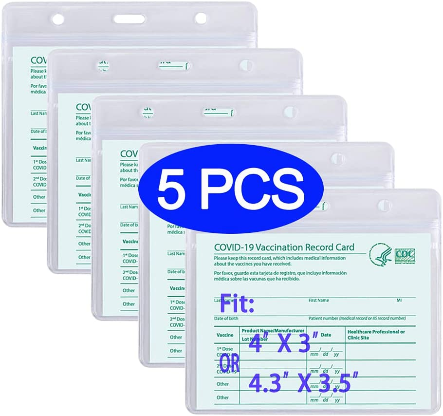 Long Beach Mall Vaccine Card Special Campaign Protector Waterproof Holder Immu for All Size