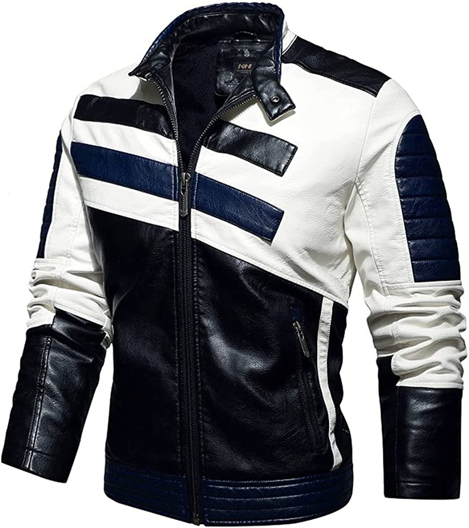 Motorcycle Jacket For Men Spring Autumn Winter Fashion Leather Embroidered Aviator Jacket