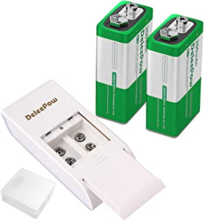 9v square battery rechargeable